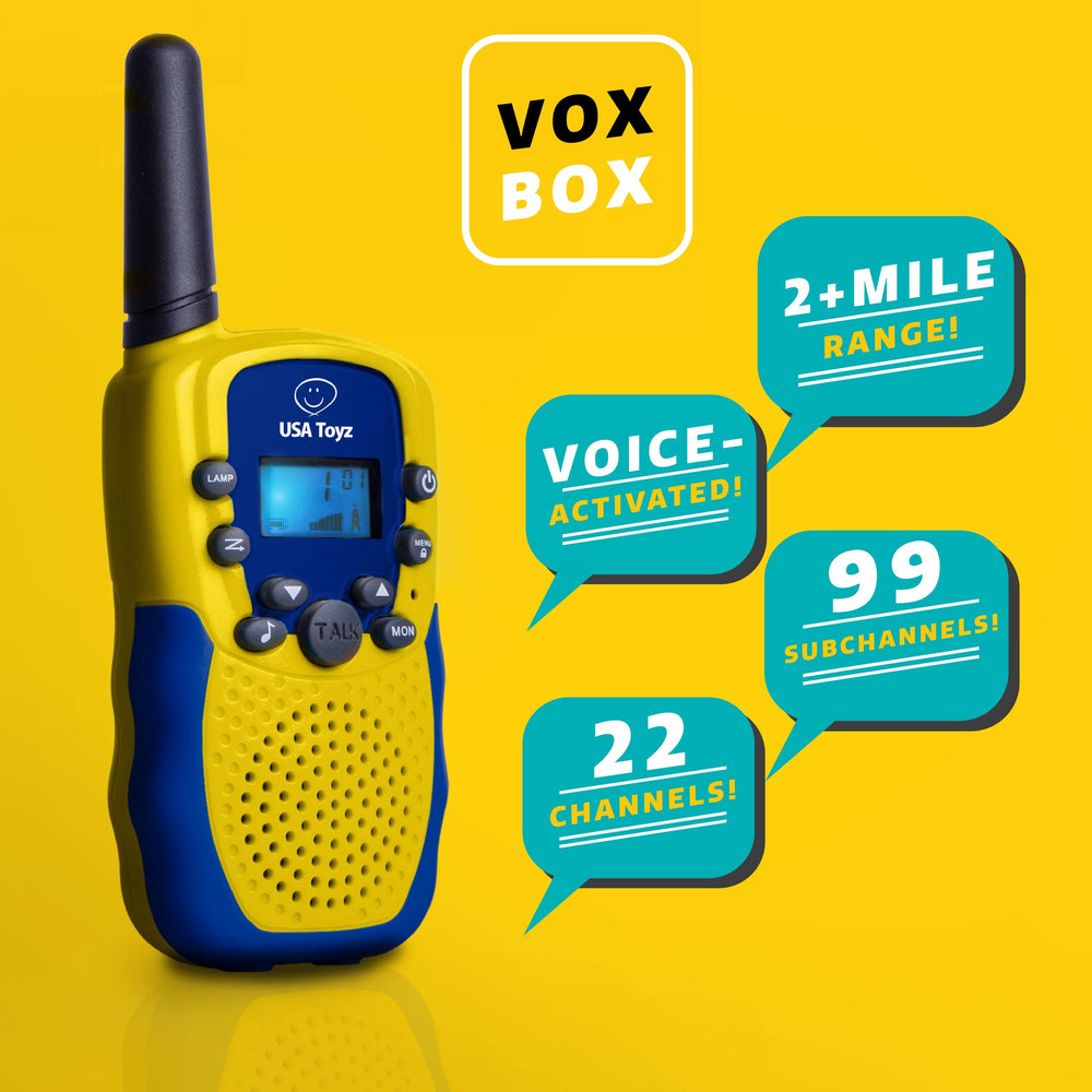 VOX BOX Walkie Talkies and Binoculars Set
