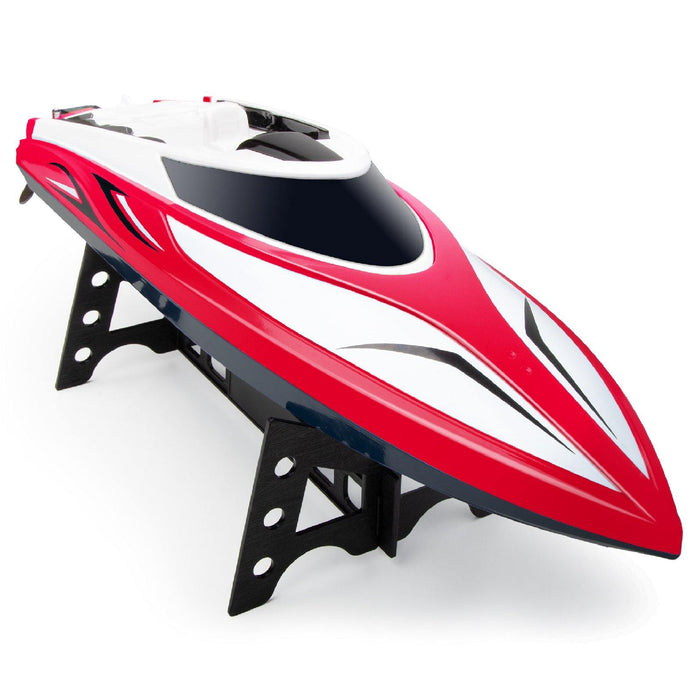 RC Boat,tonason Remote Control Racing Boats for Pools and Lakes Speed Boat Toys Outdoor Adventure Electric 4 Channels for Kids