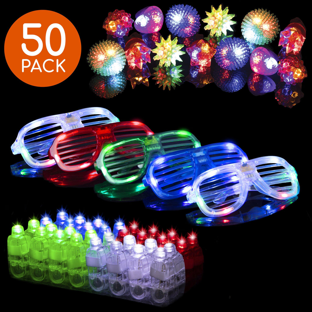 More flash for the cash! Glow party supplies make great party favors for Halloween, New Years, boys and girls birthdays and more