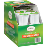 Twinings - Decaf Green Tea K-Cup Pods, 24 Count Box (Pack of 1) - with By The Cup HoneyStix
