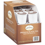 Twinings - Premium Black Tea K-Cup Pods, 24 Count Box (Pack of 2) - with By The Cup HoneyStix