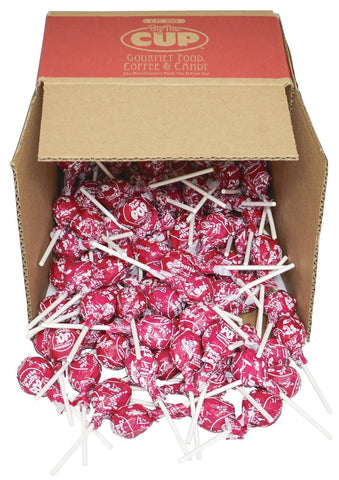 Tootsie Pops - Red Raspberry - 4 lb Bulk By The Cup Box