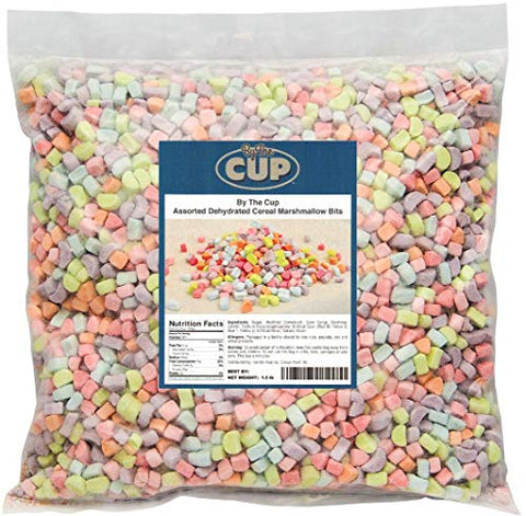 By The Cup Assorted Dehydrated Cereal Marshmallow Bits - 1.5 lb bulk bag