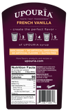 Upouria French Vanilla Naturally Flavored Syrup, 100% Vegan and Gluten-Free, 750ml bottle - Pump included
