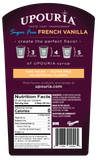 Upouria Sugar Free French Vanilla Naturally Flavored Syrup 100% Vegan and Gluten-Free, 750ml bottle - Pump included