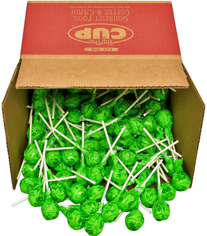 Tootsie Roll Pops - Lemon Lime - 4 Pound Bulk By The Cup Box