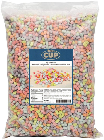 By The Cup Assorted Dehydrated Cereal Marshmallow Bits - 3 lb bulk bag