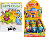 Yowie - Limited Edition All American Collection 12 count box - With By the Cup Coloring & Activity Book