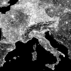 Detail of Europe Map by Maptrail on Artymaps