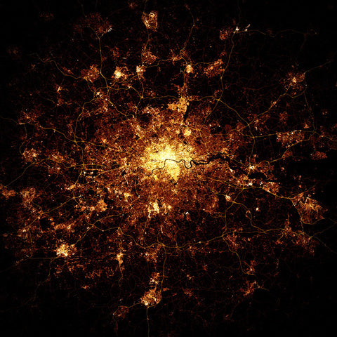 London nighttime map