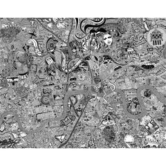 London Town Art Map by Fuller Maps