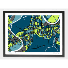 Richmond and Kew Art Map Print A1 A2