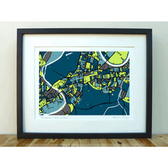 Richmond and Kew Art Map Print A3 A4