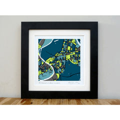Richmond and Kew Art Map Print Square