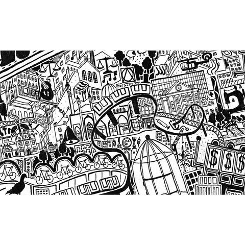 London Town - Large, hand finished