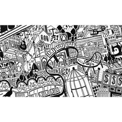 London Town Art Map - Wihtechapel Detail