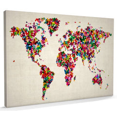 Butterflies World Map