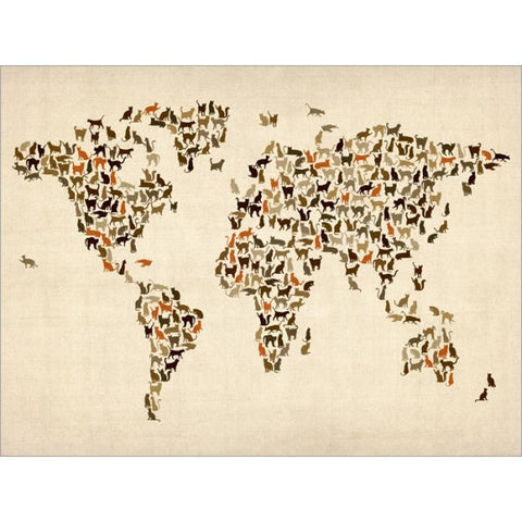 Cat map of the world