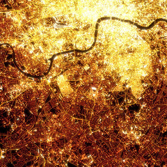 London Night Map Detail