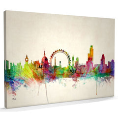 London skyline watercolour canvas