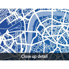 London Street Map in Blue