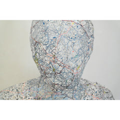 Map sculpture by Nikki Rosato detail - Untitled self portrait