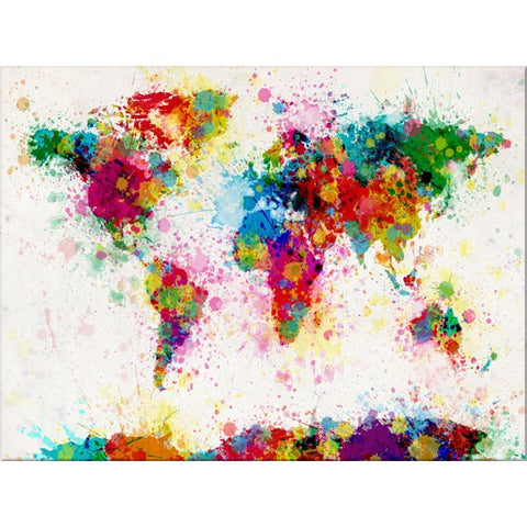 Paint splashes world map