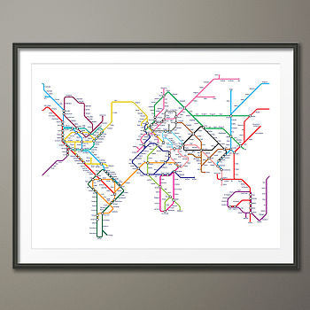 Tube / Metro World Map