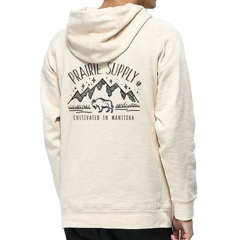 Prairie Supply Co. Unisex Hoodies - Cultivated Mountain Bamboo Zip - Natural/Navy