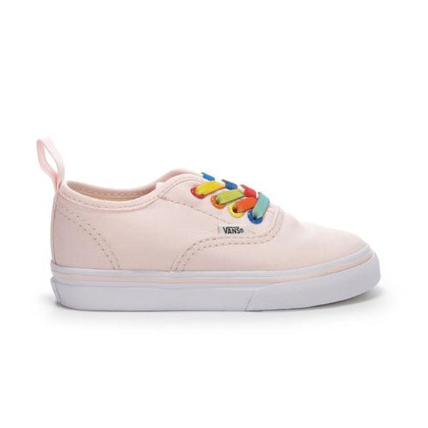bd1525781a59 Vans Girl s Shoes - Authentic Elastic - Rainbow Shine Heavenly Pink ...