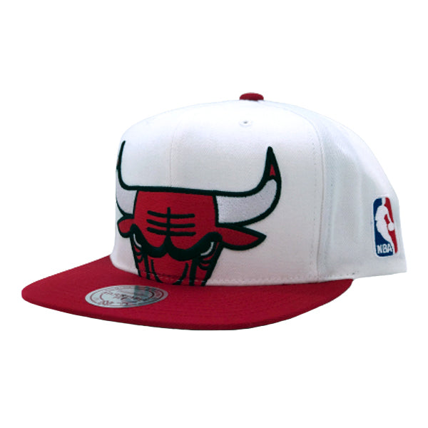 Mitchell & Ness Men's Hats - Cropped Logo 2 Tone Snapback - White/Red