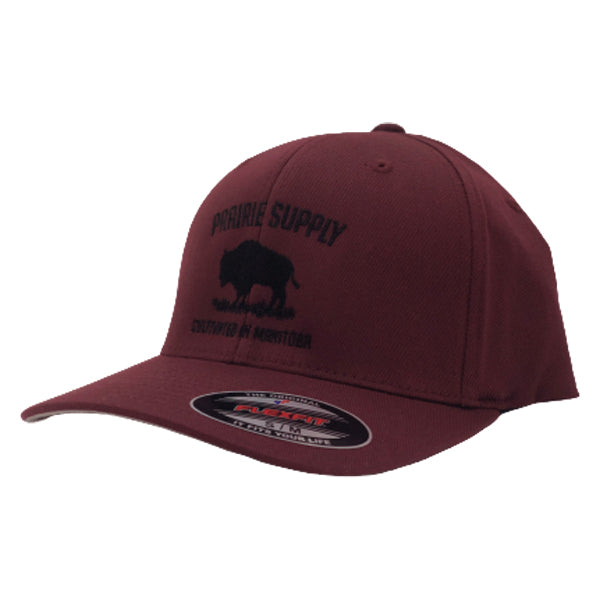 Prairie Supply Co. Unisex Hats - Cultivated Flexfits - Maroon