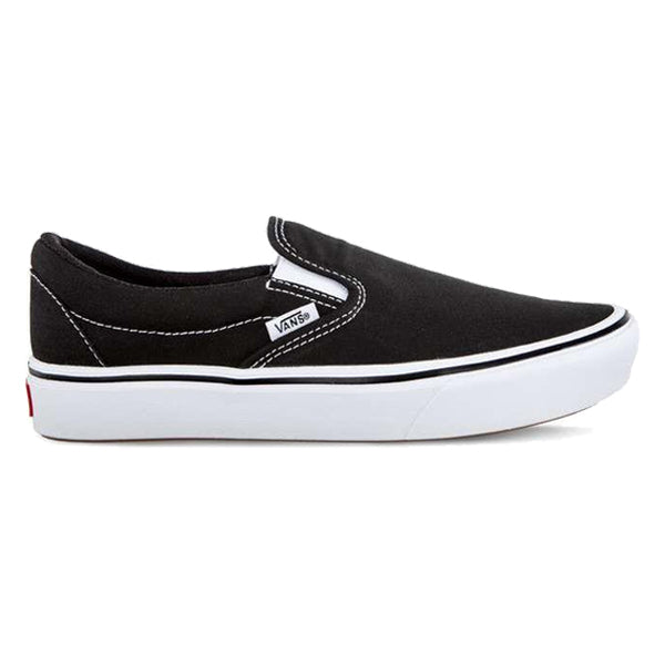 Vans Unisex Shoes - ComfyCush Slip-Ons - Black/True White
