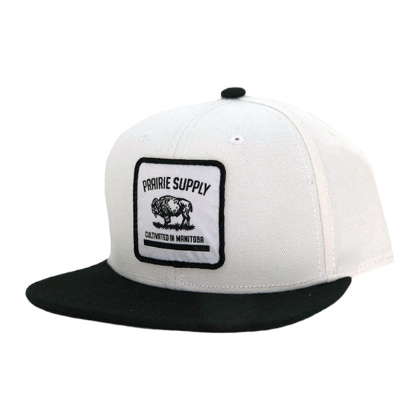 bf2415bf07b24 Unisex Hats - Cultivated Badge Snapback - White Black