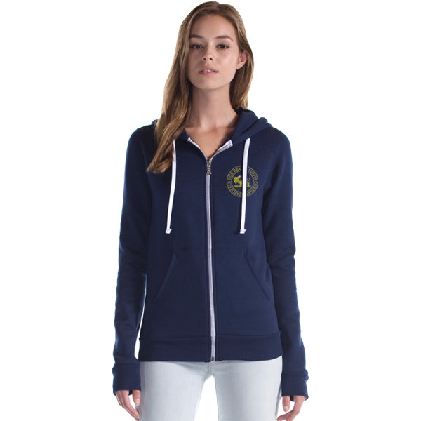 Prairie Supply Co. Unisex Hoodies - Cultivated Circle Zip - Navy/Gold