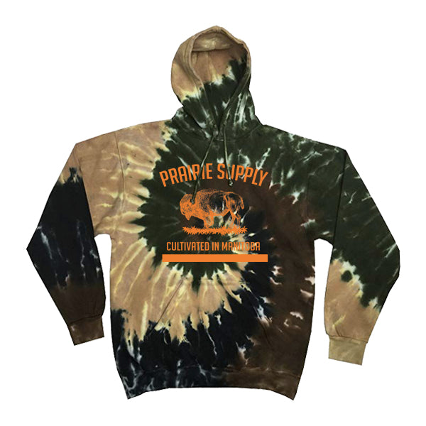 Prairie Supply Co. Unisex Hoodies - Cultivated Pullover - Camo Swirl/Orange