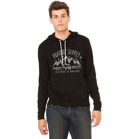 Prairie Supply Co. Unisex Hoodies - Cultivated Mountain Pullover - Black/White