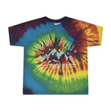 Prairie Supply Co. Toddler T-Shirts - Cultivated Mountain - Rainbow Tie-Dye/White