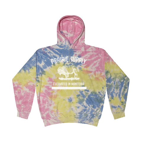 Prairie Supply Co. Unisex Hoodies - Cultivated - Sherbet/White