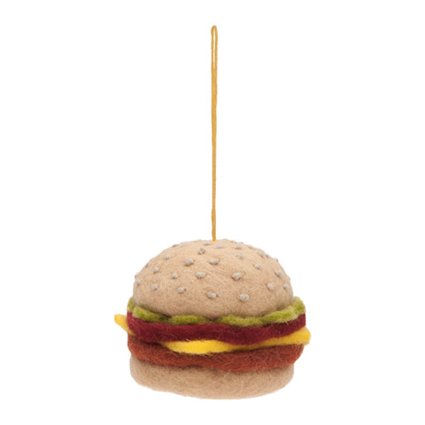 Drake General Store Home Accessories - Hamburger Felt Ornament