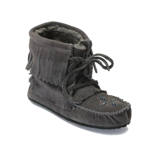 Manitobah Mukluks - Harvester Suede Lined - Charcoal