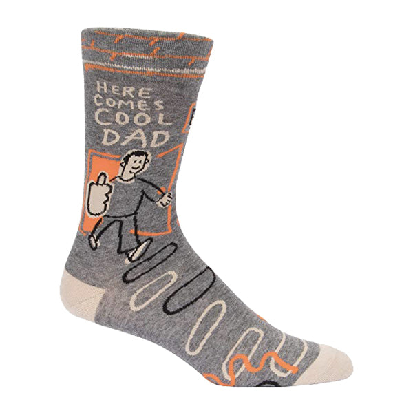 Blue Q Men's Socks - Here Comes Cool Dad - Multi
