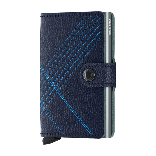 Secrid Unisex Wallets - Miniwallet - Stitch Linea Navy