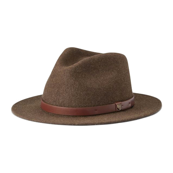 Brixton Women's Hats - Messer Fedora - Heather Brown