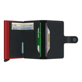 Secrid Unisex Wallets - Miniwallet - Matte Black & Red