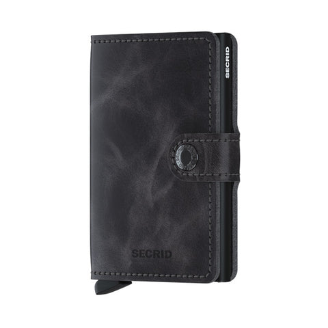 Secrid Unisex Wallets - Miniwallet - Vintage Grey/Black