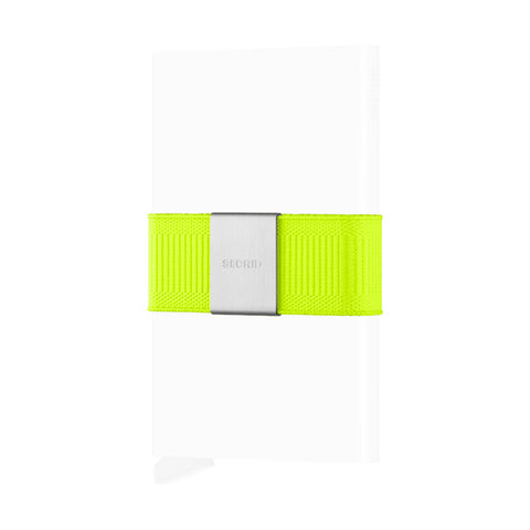 Secrid Unisex Wallets - Moneyband - Neon Yellow