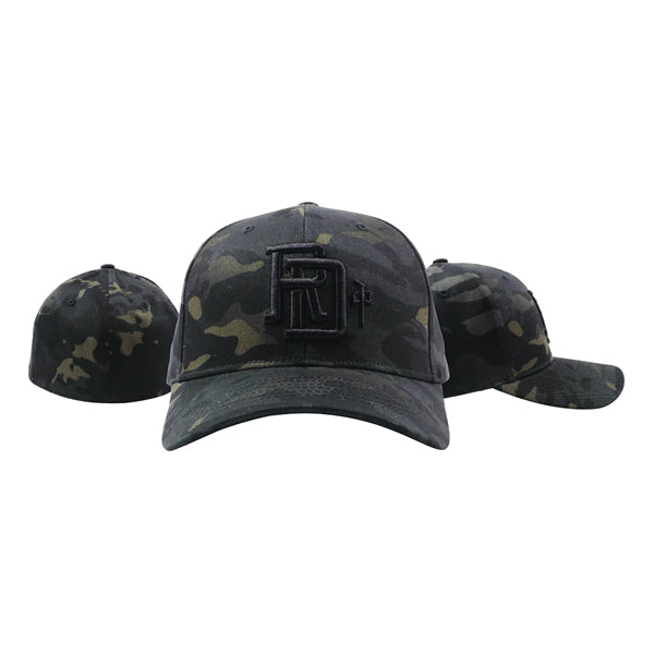 RDS Men's Hats - Monogram Flexfit - Black Camo