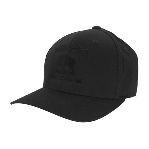 Prairie Supply Co. Unisex Hats - Cultivated Flexfits - Black