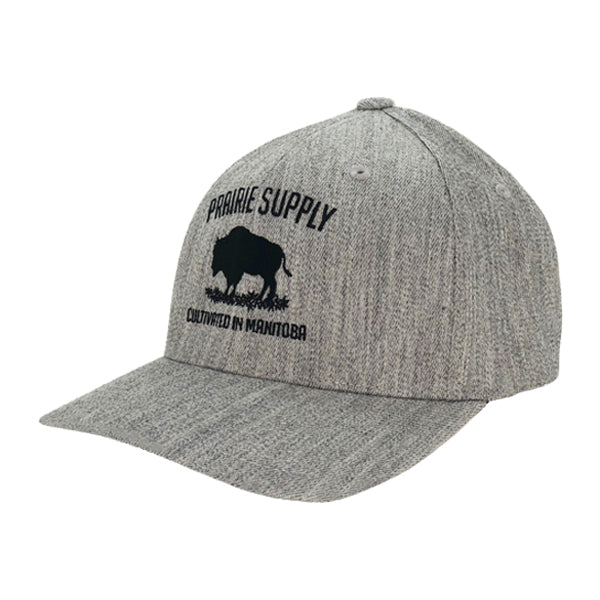 Prairie Supply Co. Unisex Hats - Cultivated Flexfits - Light Heather Grey